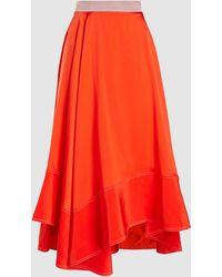 ROKSANDA Shona Silk-satin Midi Skirt - Orange