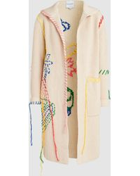Mira Mikati - Hand Embroidered Knitted Cardigan - Lyst