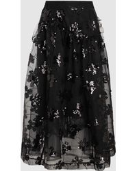 Simone Rocha - Sequinned Mesh-layered Skirt - Lyst