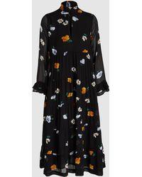 Ganni - Dainty Floral Georgette Maxi Dress - Lyst