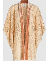 Anna Sui Baroque Lace And Velvet Trim Kimono - Multicolor