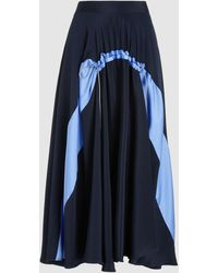 ROKSANDA Zelma Midi Skirt - Blue