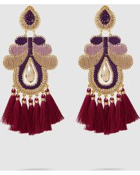 Mercedes Salazar Curubas Fringe Drop Earrings JBzyh