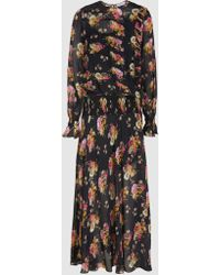 Preen Line - Rylee Floral-print Georgette Maxi Dress - Lyst