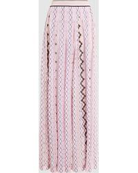 Missoni - Crochet-knit Maxi Skirt - Lyst
