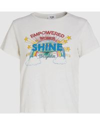 RE/DONE Shine Printed Cotton-jersey T-shirt - White