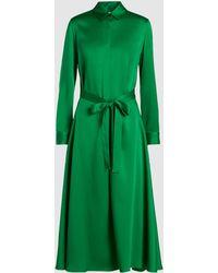 Rosetta Getty - Apron Wrap Silk Shirt Dress - Lyst