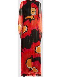DHELA - Metallic Silk-blend Kaftan Gown - Lyst
