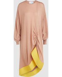 Esteban Cortazar - Long Sleeve Sweater Dress With Ruffle Trim - Lyst