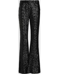 Anna Sui Sparkling Nights Sequined Mesh Pants - Black