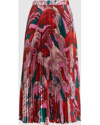 Marco De Vincenzo - Stampa Mani Floral Pleated Skirt - Lyst