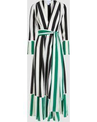 We Are Leone Striped Silk Robe