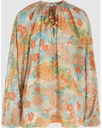 Elizabeth and James - Chance Printed Long Sleeve Silk Blouse - Lyst