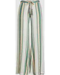 Zeus+Dione Alcestes Striped Tie-waist Silk Blend Trousers - Multicolour