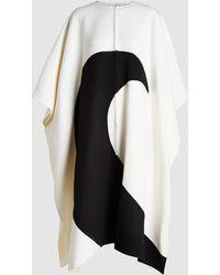 Valentino Moon Print Wool-blend Cashmere Cape - Multicolour