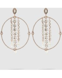 Erickson Beamon - Bowl Embellished Rose Gold-plated Earrings - Lyst