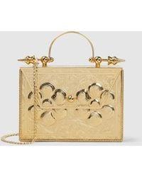 OKHTEIN Minaudière Decorative Gold-plated Brass Box Bag - Metallic