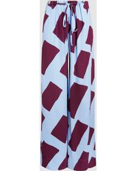 Cedric Charlier - Printed Wide-leg Trousers - Lyst