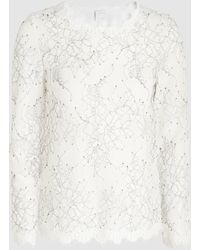 Huishan Zhang - Glenda Embroidered Lace Top - Lyst