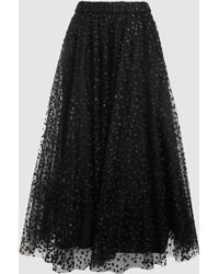 Co. - Sparkly Dotted Tulle Midi Skirt - Lyst