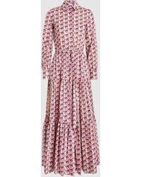 La Doublej Editions - Bellini Printed Cotton Maxi Dress - Lyst