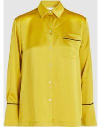 Asceno - Pj Top Silk Long-sleeve Shirt - Lyst