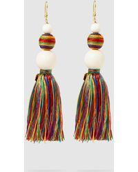 Rosantica - Arlecchino Beaded Tassel Earrings - Lyst