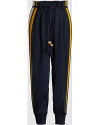 Peter Pilotto - Cady Striped Satin Trousers - Lyst
