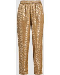 LAYEUR - Silk-blend Tapered Track Trousers - Lyst