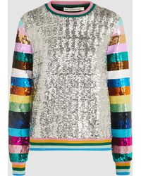 Mary Katrantzou - Magpie Sequinned Sweatshirt - Lyst