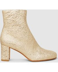 Maryam Nassir Zadeh - Agnes Metallic Leather Ankle Boots - Lyst
