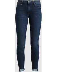 Mother The Stunner Distressed Skinny Jeans - Blue