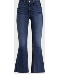 FRAME - Le Crop Bell Mid-rise Flared Jeans - Lyst