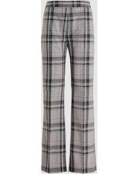 3.1 Phillip Lim High Waist Plaid Straight Leg Pants - Gray