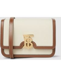 Burberry - Tb Monogram-buckle Canvas Small Shoulder Bag - Lyst