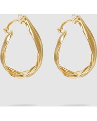 Annelise Michelson - Drapée Gold-dipped Bronze Draped Hoops - Lyst