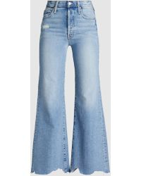 Mother - Tomcat Roller Chew True Confession Wide Leg Jeans - Lyst