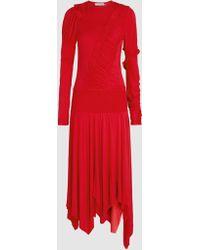 Preen Line - Estella Ruched Stretch-cotton Midi Dress - Lyst
