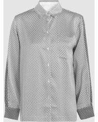 Beautiful Bottoms - Printed Sandwashed Silk-satin Shirt - Lyst