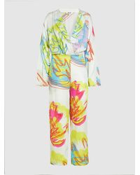 All Things Mochi Anushka Long Sleeve Floral Jumpsuit - White