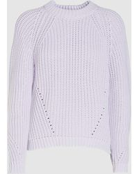 Baum und Pferdgarten Camilla Chunky Knit Cotton-blend Sweater - Purple