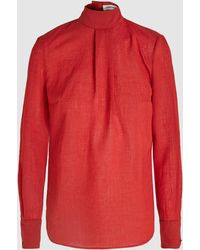 Cefinn - Long Sleeved Funnel Neck Blouse - Lyst
