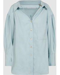 6c2b036f9cfa91 Lyst - Rejina Pyo Amber V-neck Button-front Linen Shirt