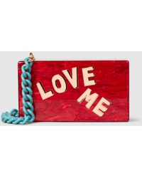 Edie Parker - Love Me Solid Acrylic Box Clutch - Lyst