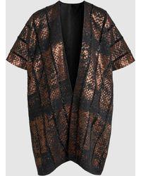 Zero + Maria Cornejo - Gaban Short-sleeved Jacquard Jacket - Lyst