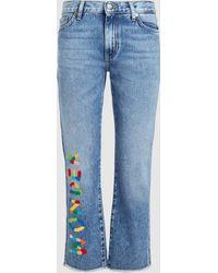 Mira Mikati - Wonder Embroidery Jeans - Lyst
