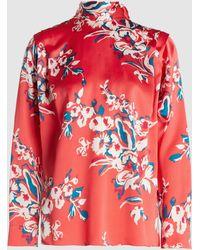ROKSANDA Aulna Floral Print Silk Blouse - Pink
