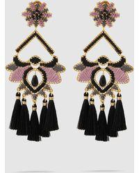 Mercedes Salazar - Paramo Rose Fringe Drop Earrings - Lyst