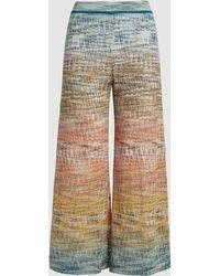 Missoni Ombre Wide-leg Crochet-knit Pants - Multicolor