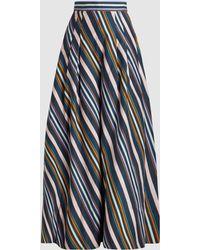Peter Pilotto - Multi-coloured Striped Cotton Trousers - Lyst